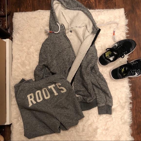8da22125f3 Roxy Pants   Black White Speckled Sweatsuit Roots   Poshmark